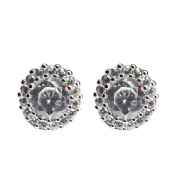 Earrings Women with stone Le Destin earrings silver plug crystal 925 sterling silver, white crystal