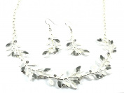 Gifts for Women Presents for Women Murano Passion Jewellery Sets - Necklace & Earring Set - Shades of Grey with Crystals - Includes Gift Box