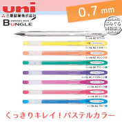 Pastel colour can write Mitsubishi pencil uniball signo Uniball signo angelic colour UM120AC photos or dark coloured paper!