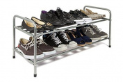Ehc 2-tier Metal Shoe Rack Stand Organiser, Silver