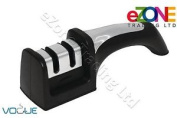 Vogue Genuine Two - Stages Manual Knife Sharpener And Anti Slip Base