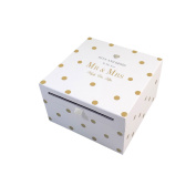 Hugs And Kisses To The New Mr & Mrs Diamante Gold Wedding Card Collection Box