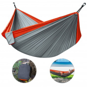 Camping Hammock, Htld Double Hammock Lightweight Portable Nylon Hammock For #3qk