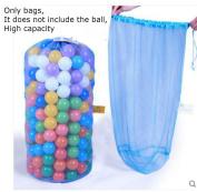Mesh Beach Bag, Ocean ball storage bag, Large capacity Mesh Bag Tote Durable Sand Away Drawstring Beach Swim and Pool Toys Storage Bags ,