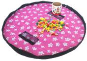 Toy Storage Bag, Large capacity Bag Mat Portable Kids Toys Organiser Storage Drawstring Bag Play Mat 150cm