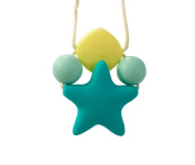 Baby Teething Chew Toys BPA Free Safe Silicone Star Nursing Necklace Nurse Charms Chewable Silicone Beads DIY Crafts Baby Teether