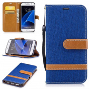 S7, COWX Case PU Leather Case Cover for Samsung Galaxy S7 13cm Protective Leather Case for Samsung Galaxy S7 Case Bag Stand Case for Samsung Galaxy S7 Pockets Bowls
