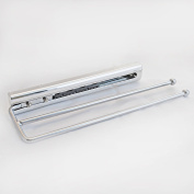 2 ARM TOWEL RAIL POLISHED CHROME KITCHEN PULL OUT TELESCOPIC TEA TOWEL HOLDER