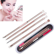 Tonsee New 4Pcs Pimple Blemish Blackhead Acne Extractor Remover Tool Needles