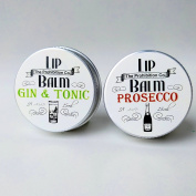 Gin & Tonic and Prosecco Lip Balms by The Prohibition Co. 2 x 15ml Tins