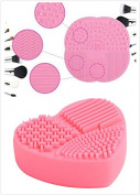SF- World Sillicone Makeup Cleaning Pad Set--1 Heart shaped pad & 1 Four Leaves shaped Pad