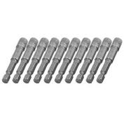 10pcs 6mm Magnetic Head Hex Socket Nut Setters Driver Bits 10mm X 65mm