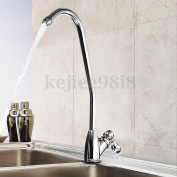 Chrome 1/4 Finish Reverse Osmosis Drinking Water Filter Kitchen Sink Faucet Tap