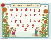 Educational Learning Mats Lower Case Handwriting Right Hand Children Preschool