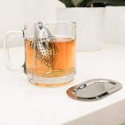 Kikkerland Stainless Steel Fish Infuser For Loose Leaf Tea Herbal Brew
