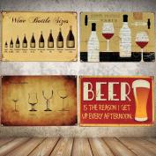 Vintage Wine Cellar Cup Metal Poster Tin Sign Tavern Bar Pub Wall Decor Plaque