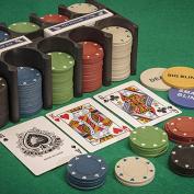 Tobar Casino Games Blackjack Poker Roulette Playing Cards Chips Game Set