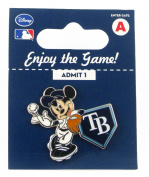 MLB Tampa Bay Rays Disney Pin - Mickey Leaning on Home Base