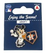 MLB Houston Astros Disney Pin - Mickey Leaning on Home Base