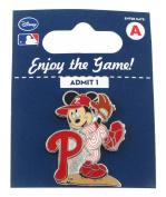 MLB Philadelphia Phillies Disney Mickey Wind Up Collectible Trading Pin