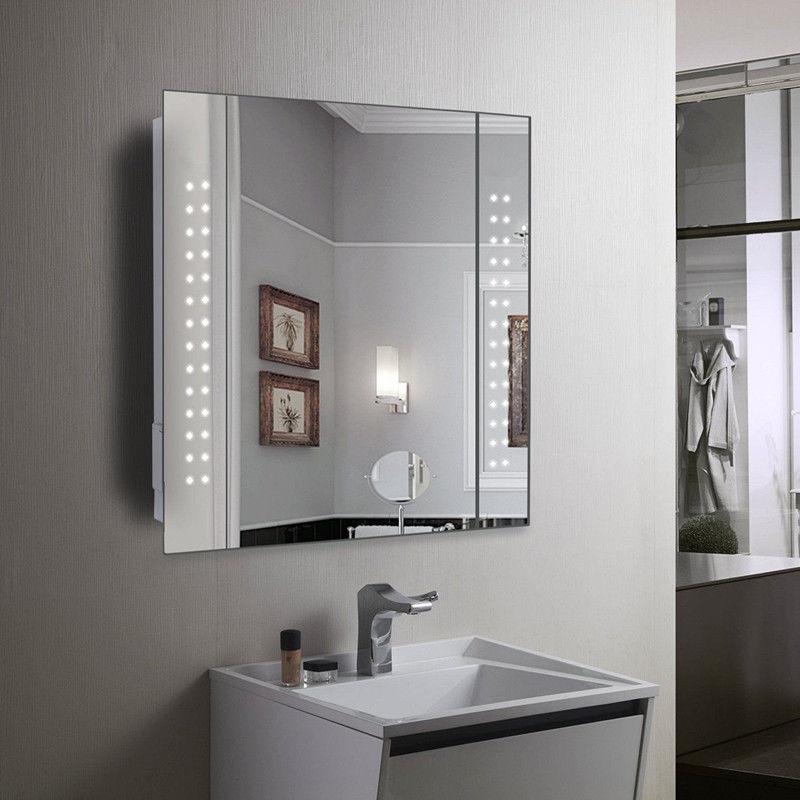 Fabulous 650X600Mm Led Illuminated Bathroom Mirror Sensor Demister Home Interior And Landscaping Oversignezvosmurscom