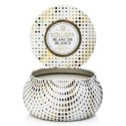 Voluspa Maison Holiday 330ml 2 Wick Metallo Candle In Tin Blanc De Blanc
