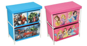 Kids Toy Storage 3 Drawer Cabinet Marvel Disney Princess Avengers Girls Boys