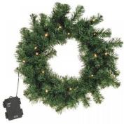 Large 40cm Light Up Led Christmas Wreath Festive Xmas Door Artificial Decoration