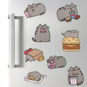 Pusheen The Cat Fridge Magnets Set Of 8 Home Kitchen