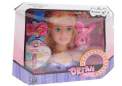 Girls Hair Styling Dream Girl Dolls Head Play Set with accessories