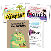 SnapWords Numbers, Colours, Days, Months, and Seasons Teaching Sight Word Cards