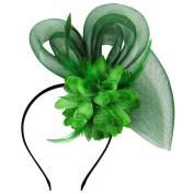 HowYouth Women's Ladies Flower Mesh Flower Fascinator Headband Hair Clip for Wedding Bridal Tea Party Royal Ascot Christmas