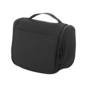 """Small Travel Toiletry Bag """"Carl"""" (Unisex) Gym or Shaving Organiser with Zipper and Hanger"""