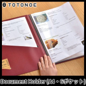 A TOTONOE / Document Holder document holder clear file (A4 size .6 pocket)