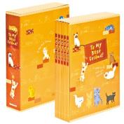 Nakabayashi five box pocket album (illustration pattern / cat & dog) 5PL-270-30-R red #103#