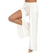 Women Waist Palazzo Pants, Paymenow Sexy Comfy Flowy Pants Casual Summer Long Loose Split Yoga Pants