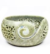 Stone Carved Beautiful & Fragile Yarn Ball Storage Bowls | Yarn Storage Bowl & Accessories | Nagina International (Small
