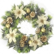Artificial Christmas Wreath For Indoors And Outdoors 41cm , Gold