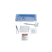 Cardinal Health 554651 Suture Removal Tray with Metal Forceps Scissors Gauze