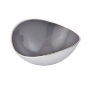 Endon Chappell Small Bowl Aluminium & Grey Enamel H: 115mm W