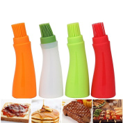 ZycShang 1pc High Temperature Resistant Oil Bottle Light Silicone Barbecue Baking Brush Kitchen BBQ Tool
