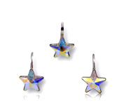 Crystals & Stones Star Crystal from Girl Lovely Accessory Set * Wonderful earrings & necklace jewellery set with elements Crystals – Gift Boxed