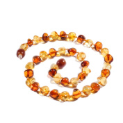 Amber Necklace 32-34 cm with Free Baltic Amber Pendant ✸ End of Line Clearance - Up to 30% OFF RRP ✸ 100% Genuine Premium Baltic Amber Beads