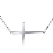 Cross 925 Sterling Silver Pendant Necklace Religion Jewellery 46cm Chain for Women Girl Men