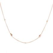 Alek Sander Stars La Barca Ladies 'Necklace Sterling Silver 925 rose gold plated 45 cm