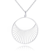 Pernille Corydon Women's Necklace Daylight Round Pendant Long Necklace 80 cm silver – N571S