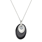 Mes-bijoux.fr - Pendant + Chain Black Ceramic Woman's and 925/1000 Silver - 7PY172BAgv
