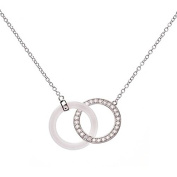 Mes-bijoux.fr - Necklace Black Ceramic Woman's and 925/1000 Silver - 7CY350WAgv