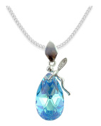 * Almond * * ALMOND * Elf Style Elements – Colour Aquamarine AB Ladies 'Necklace Pendant Necklace Jewellery Mother Gift with Crystals