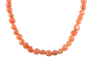 AqBeadsUk Classic Semi-Precious Gemstone Agate beads 48cm - 50cm Luxury Handmade/Hand-Knotted Women's Necklace